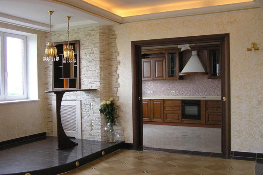 Фото интерьеров с декоративным камнем.